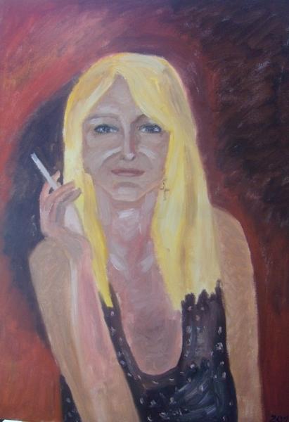 autoportrét - Usměvavá