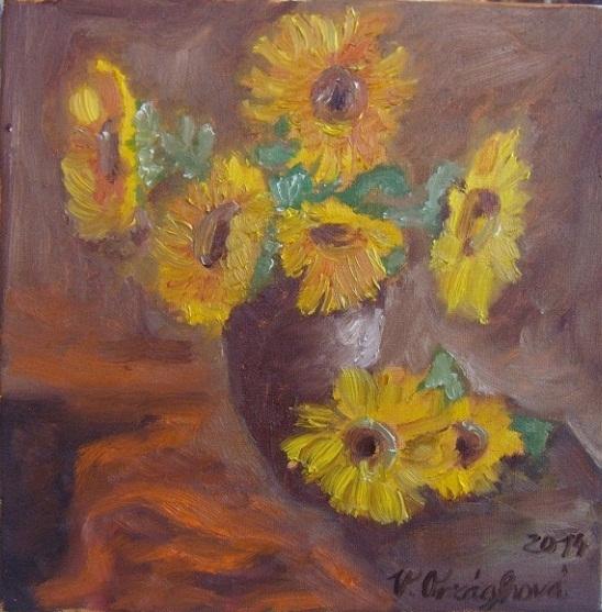 Zátiší se slunečnicemi
