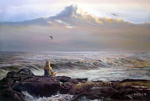 DÍVKA A OCEÁN