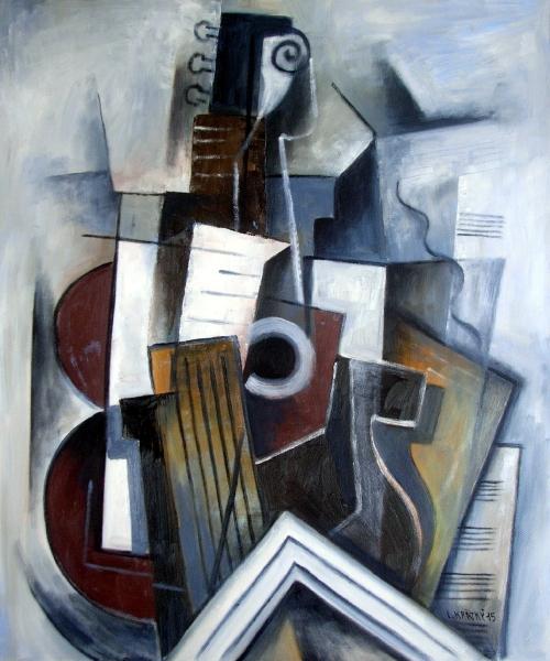 Zátiší s kytarou