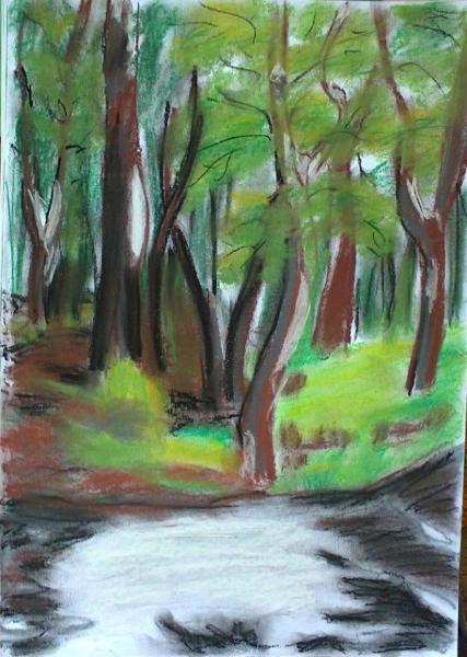 plenér - Milíčovský les
