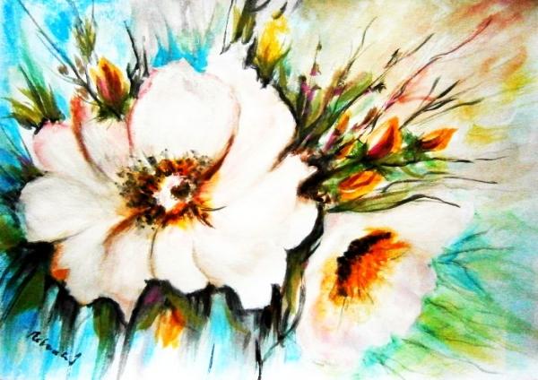Biele kvety..