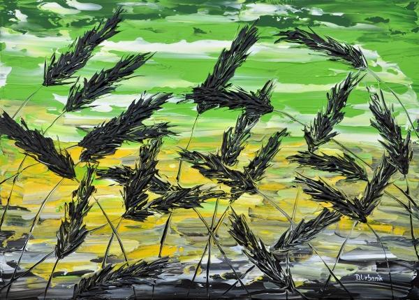 Tráva v zelenom