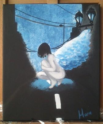 Anděl v nočním městě