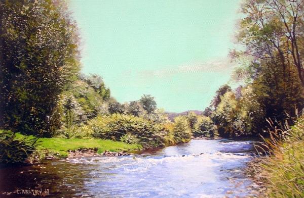 Krajina s potokem