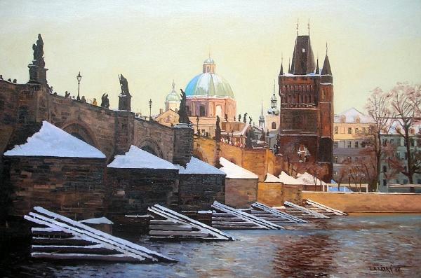 Zima u Karlova mostu