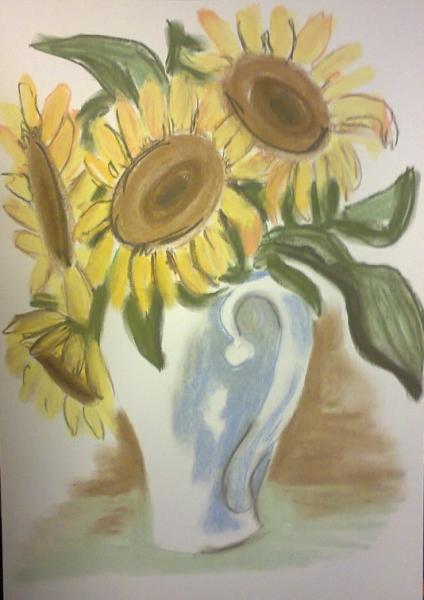 Slunečnice ve džbánu