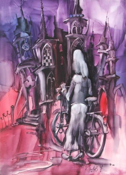Gótsky cyklista