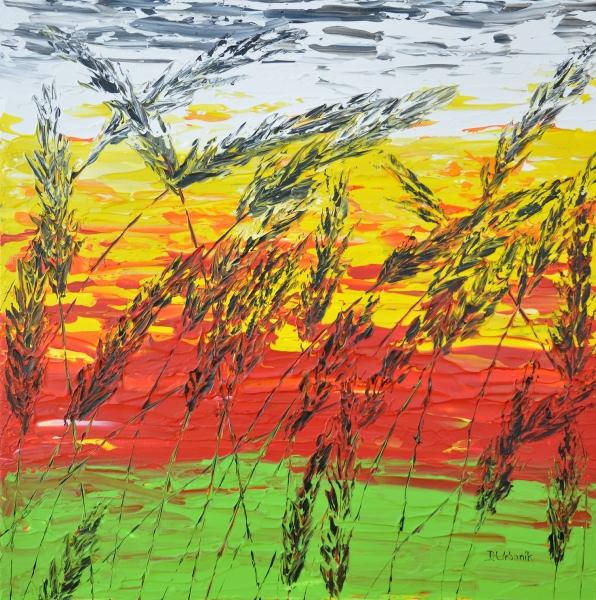Západ slnka v tráve 1