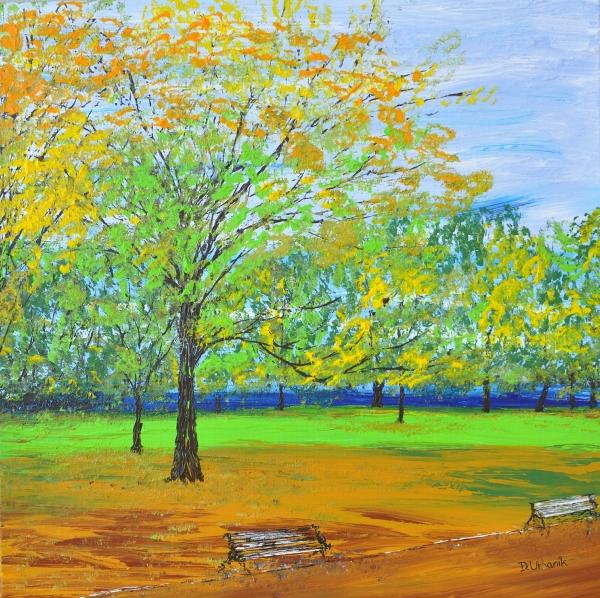 Jeseň v Hyde parku Londýn