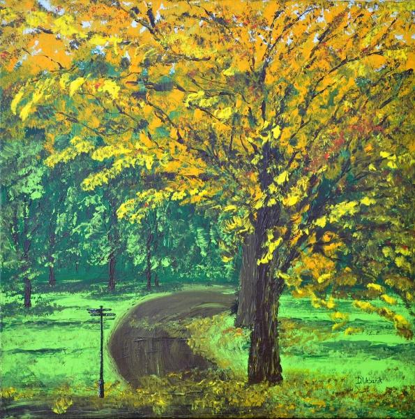Jeseň v Hyde parku Londýn 1