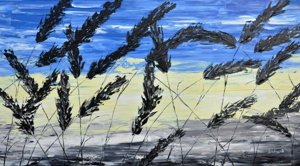 Tráva a modrá obloha