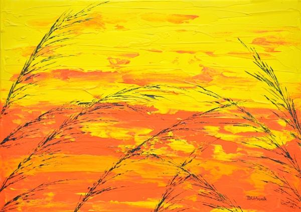 Tráva v žltej farbe