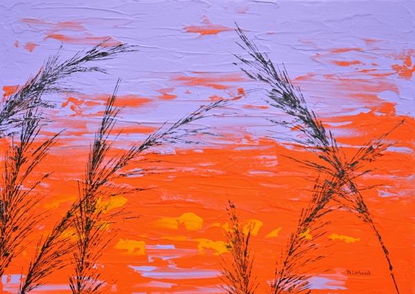 Tráva vo fialovej farbe