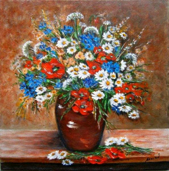 Kytica letných kvetov.