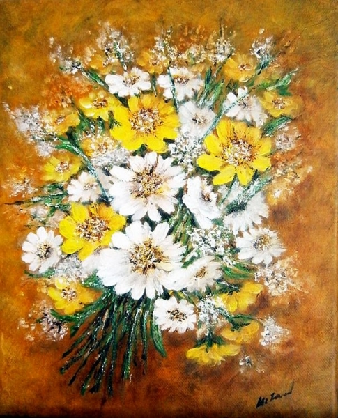 Kytica žltobielych kvetov...