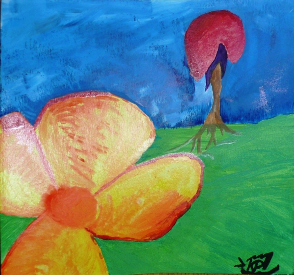 Padající květ