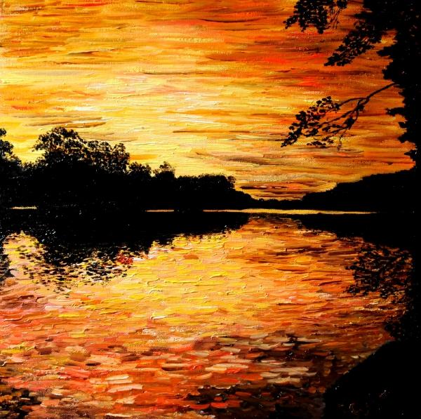 podvečer u rybníka
