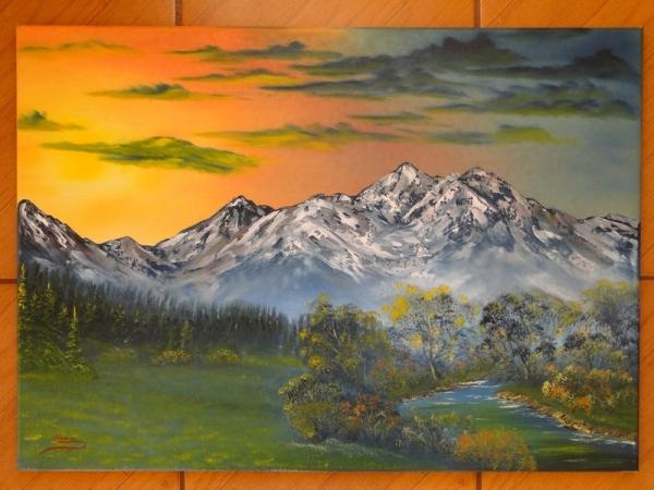 Vysoké Tatry západ slnka