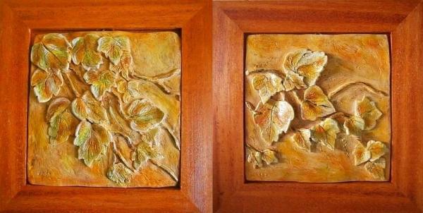 Brečtanové listie-keramika