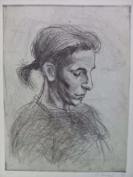 Portrét čtoucí dívky