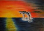 Radujúci sa delfíny