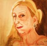 autoportrét-S červenou rtěnkou