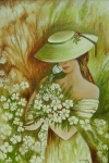 Žena s kvetmi