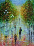 Prechádzka v dáždi..