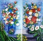 Kytica v záhrad dvojobraz