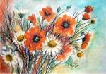 Zátišie s kvetmi..