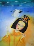 Dívka s korálky