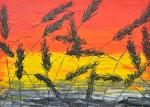 Tráva v červenom