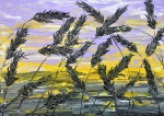 Tráva vo fialovom