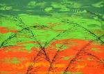Tráva v zelenej farbe
