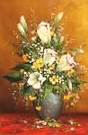 Kytica s bielymi kvetmi