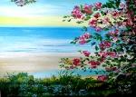 laguna a neb 50 odstínů modré