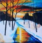 Zimný podvečer-prodáno