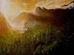Svítání v Yosemite valley