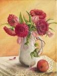 Schovává se za vázou