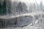 Zima nad riekou..